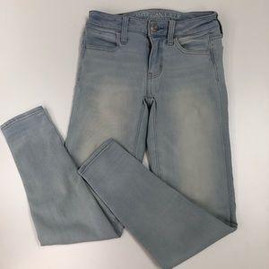 AEO 360 Super Stretch Jegging Jeans Sz 0